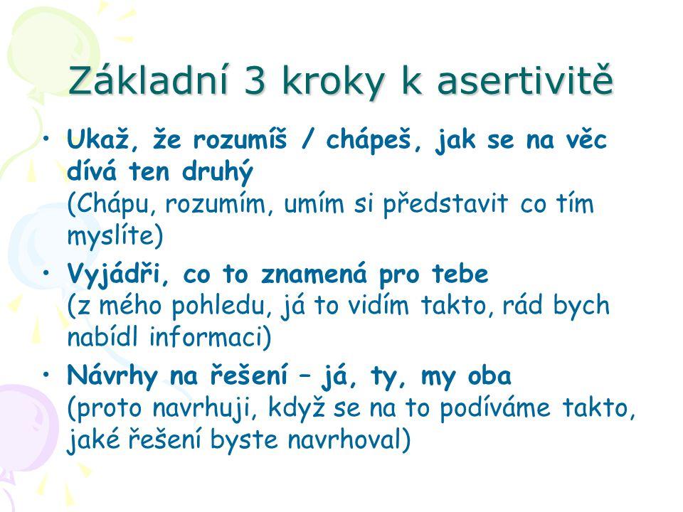 Základní 3 kroky k asertivitě