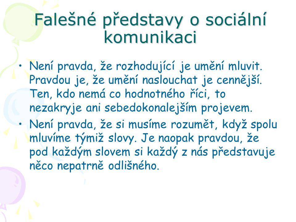 Falešné představy o sociální komunikaci