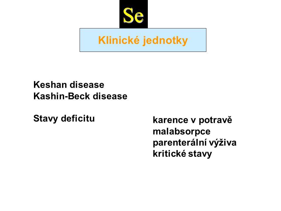 Se Klinické jednotky Keshan disease Kashin-Beck disease Stavy deficitu