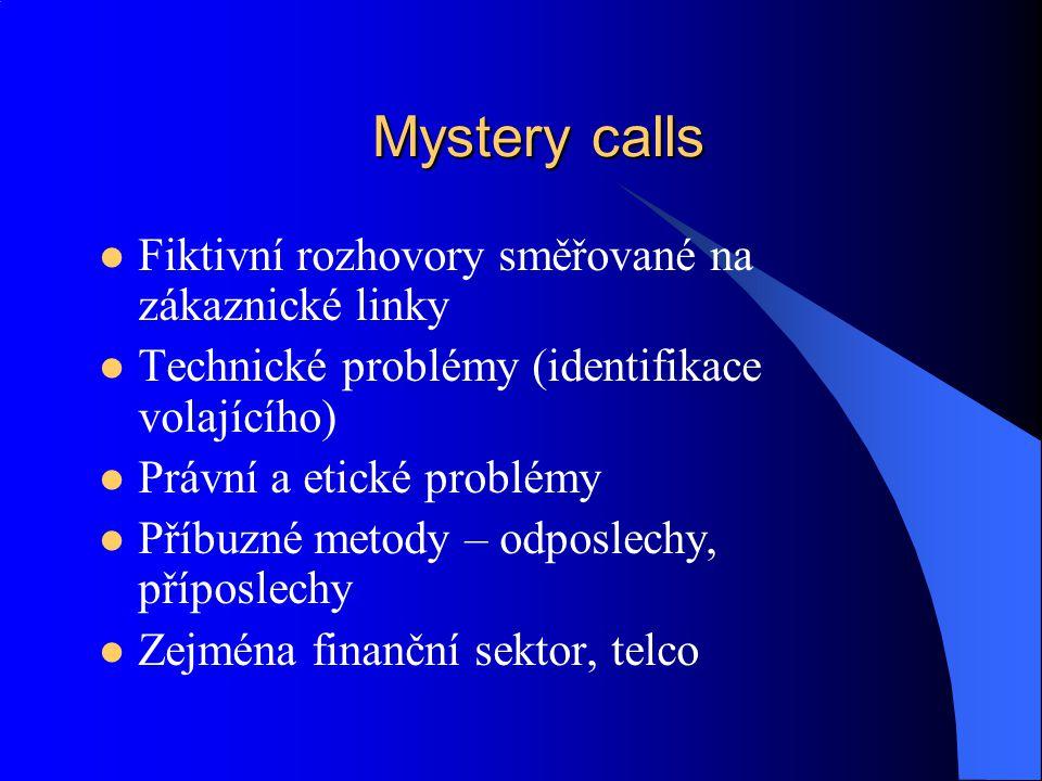 Mystery calls Fiktivní rozhovory směřované na zákaznické linky