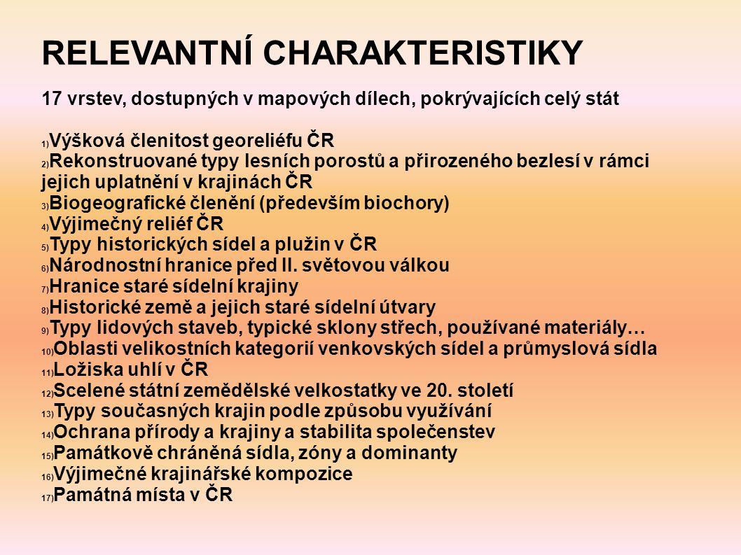 RELEVANTNÍ CHARAKTERISTIKY