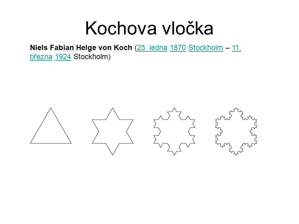 Kochova vločka Niels Fabian Helge von Koch (25. ledna 1870 Stockholm – 11. března 1924 Stockholm)
