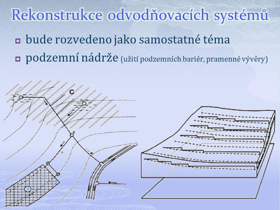 Rekonstrukce odvodňovacích systémů