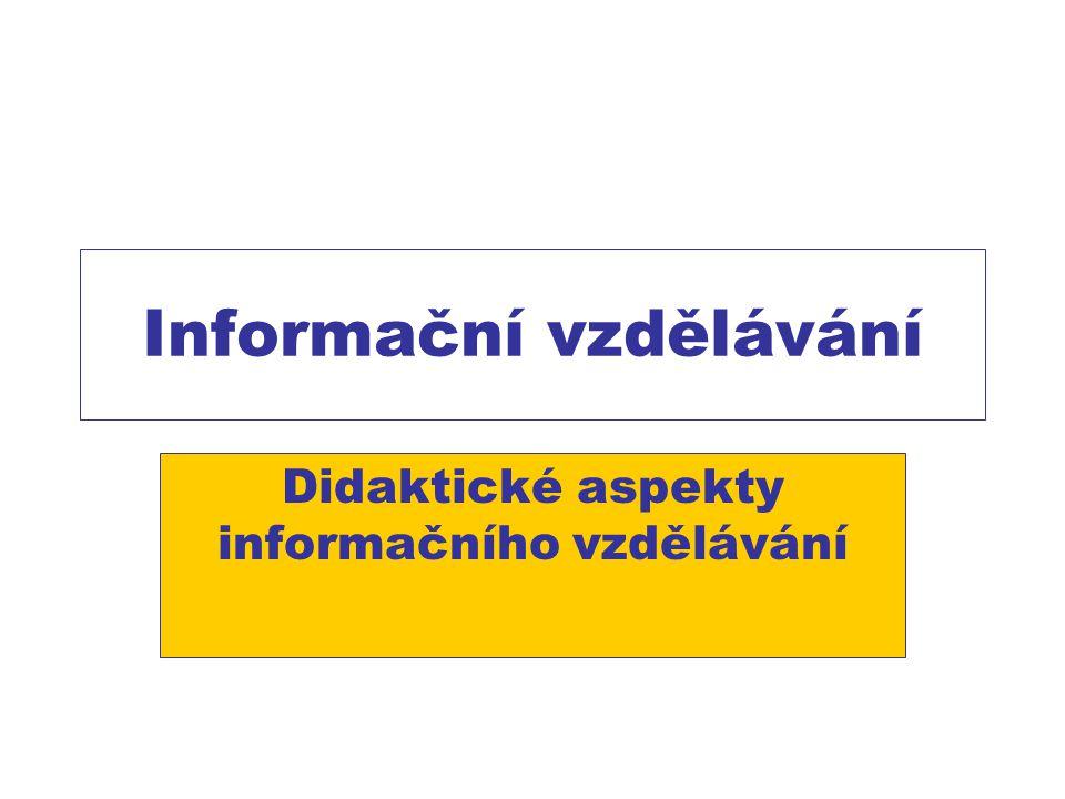 Informační vzdělávání