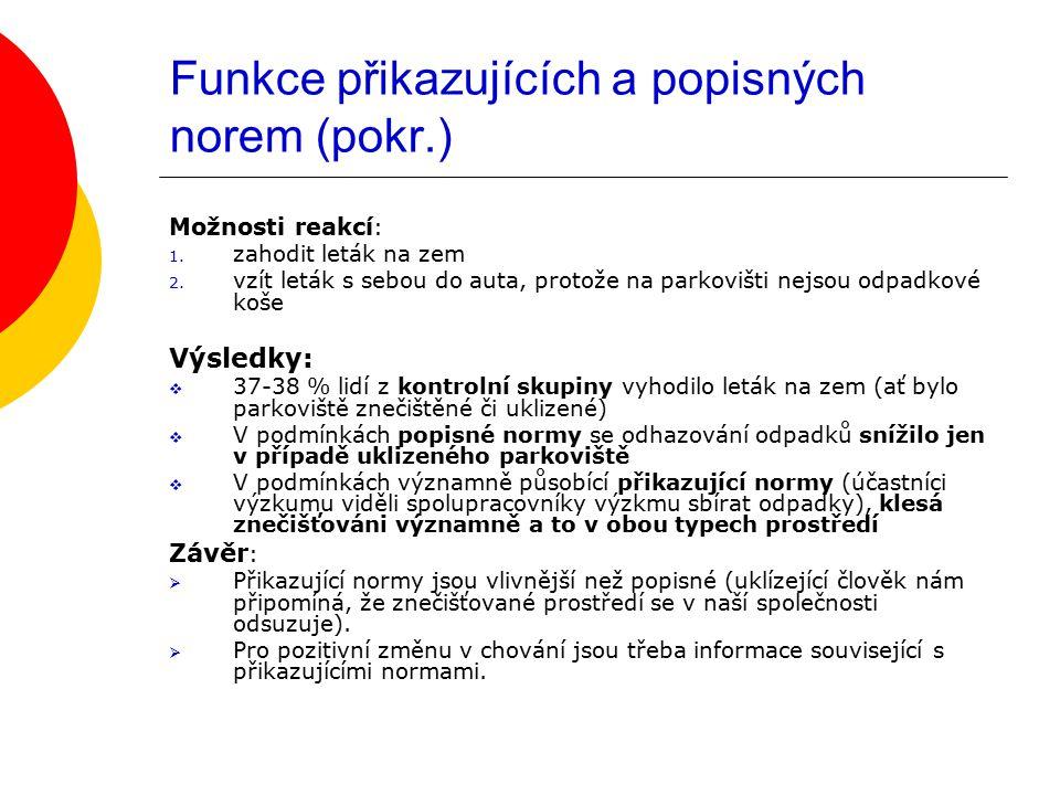 Funkce přikazujících a popisných norem (pokr.)