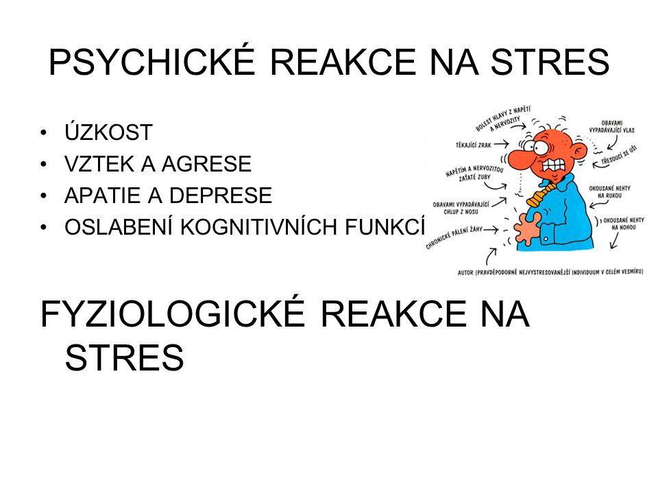 PSYCHICKÉ REAKCE NA STRES