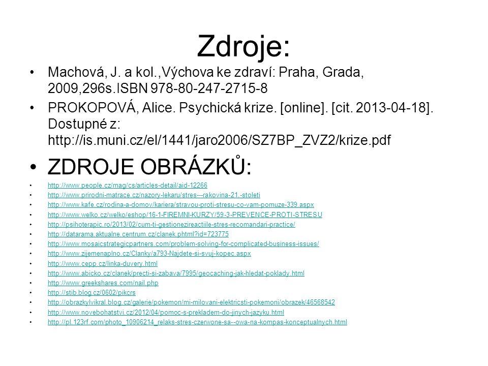 Zdroje: ZDROJE OBRÁZKŮ: