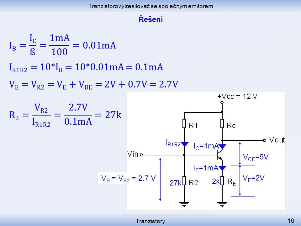 Tranzistorový zesilovač se společným emitorem