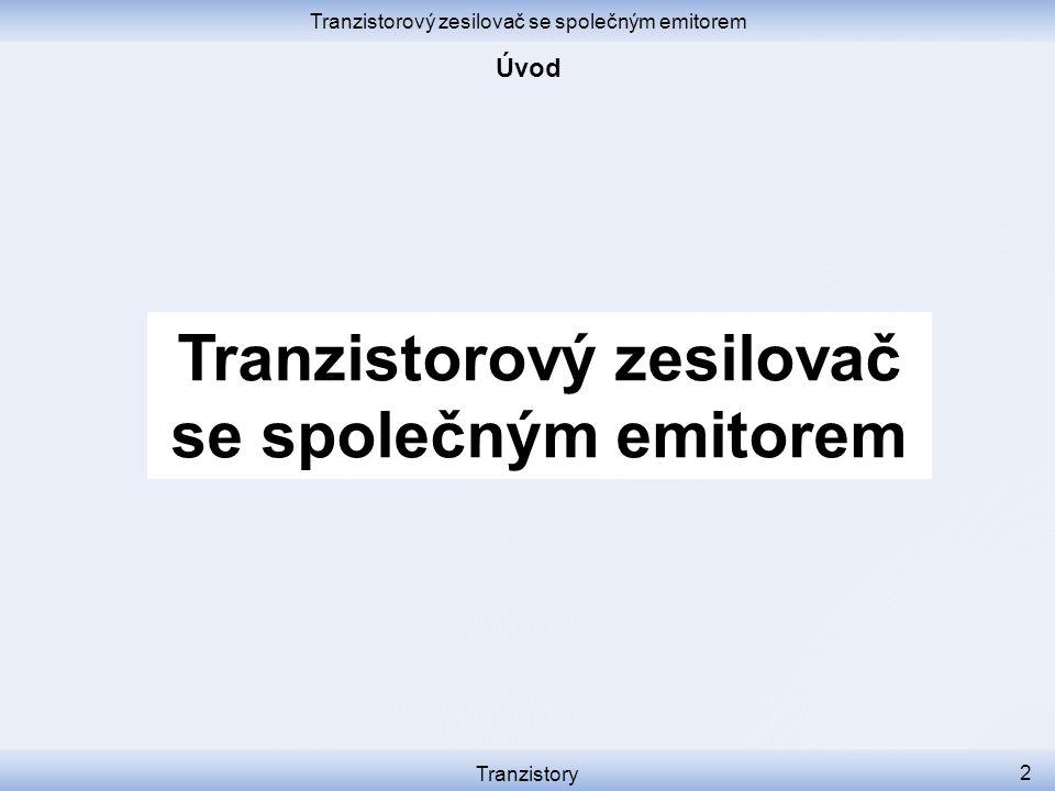 Tranzistorový zesilovač