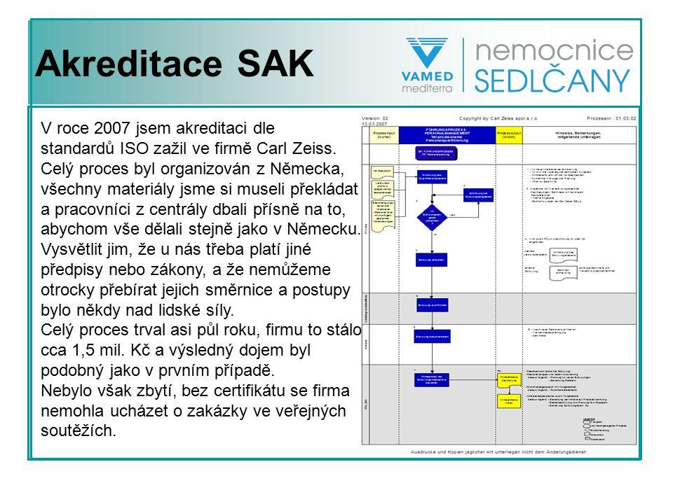 Akreditace SAK V roce 2007 jsem akreditaci dle