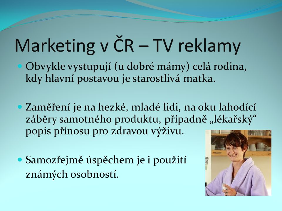 Marketing v ČR – TV reklamy