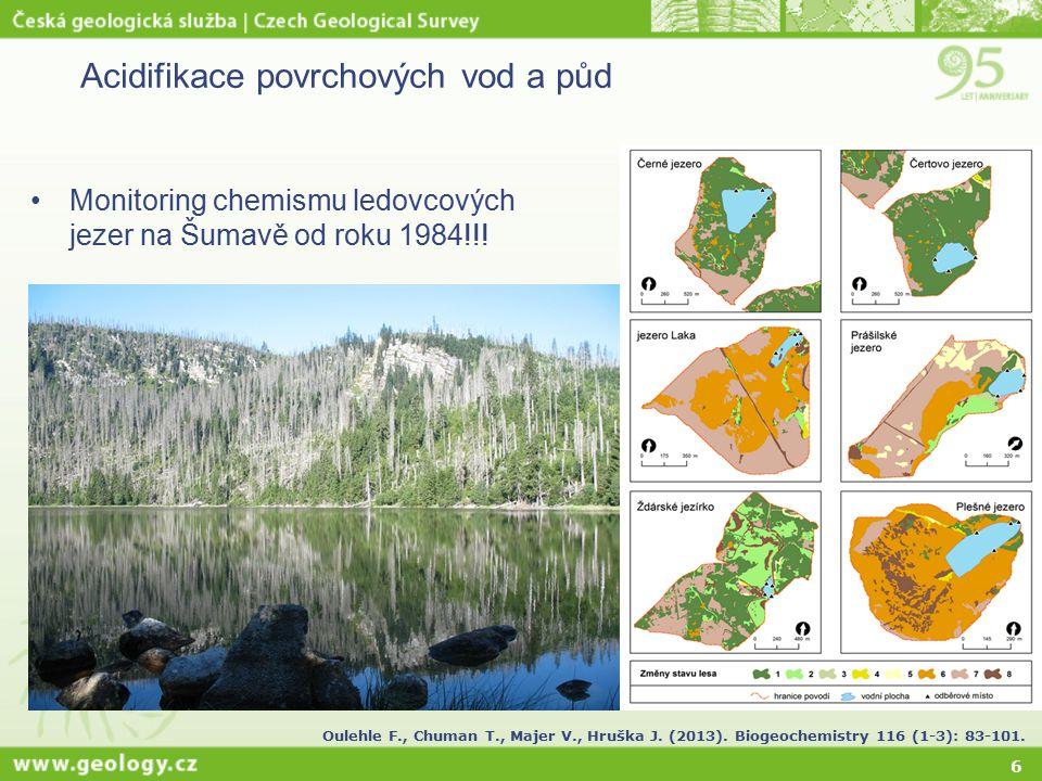 Acidifikace povrchových vod a půd