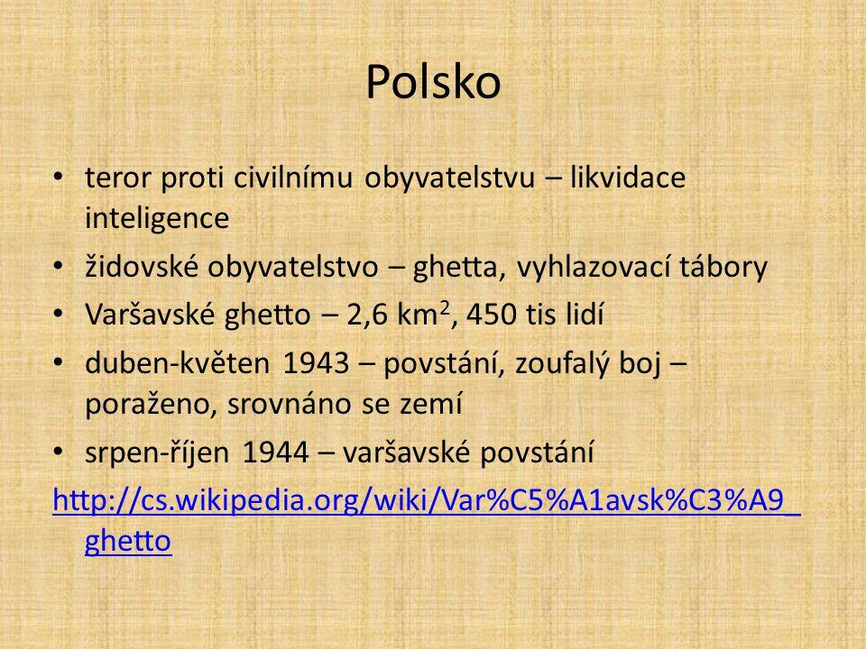 Polsko teror proti civilnímu obyvatelstvu – likvidace inteligence