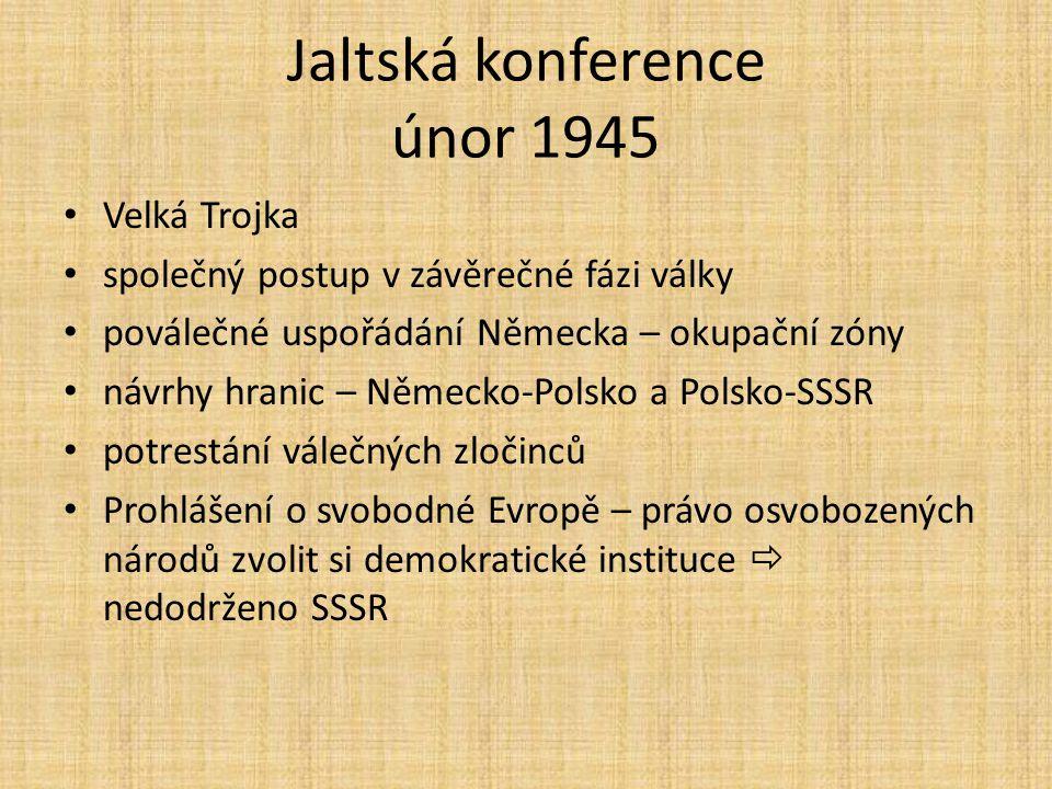Jaltská konference únor 1945