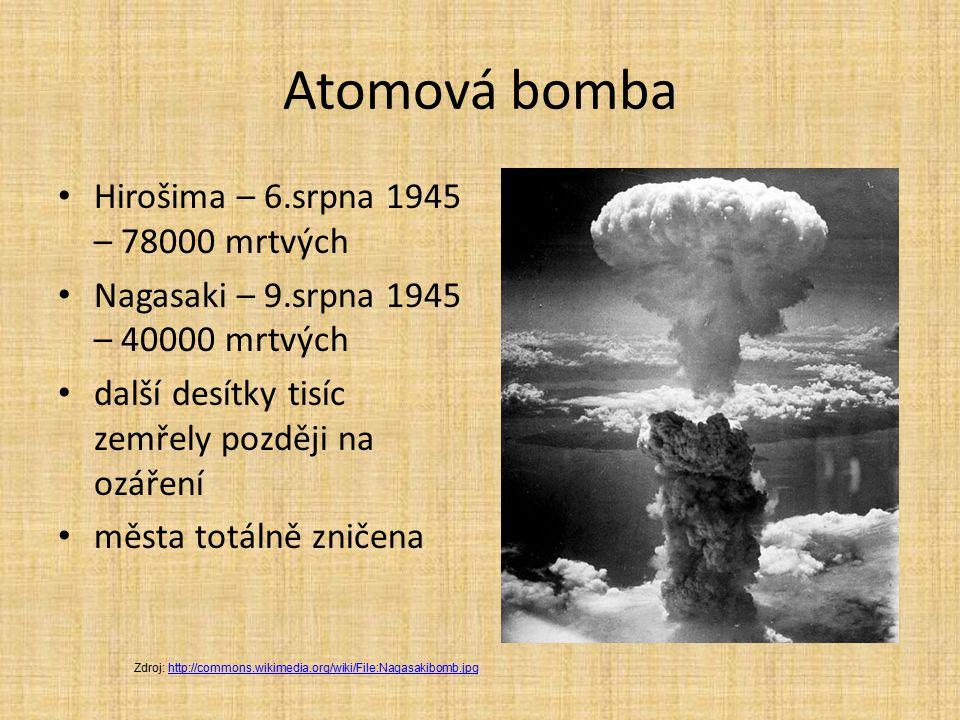Atomová bomba Hirošima – 6.srpna 1945 – 78000 mrtvých