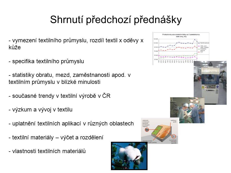 Shrnutí předchozí přednášky