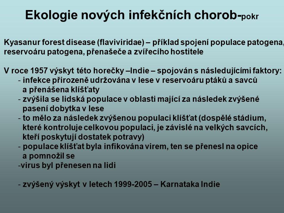 Ekologie nových infekčních chorob-pokr