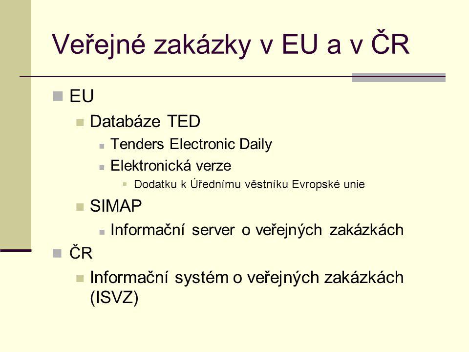 Veřejné zakázky v EU a v ČR