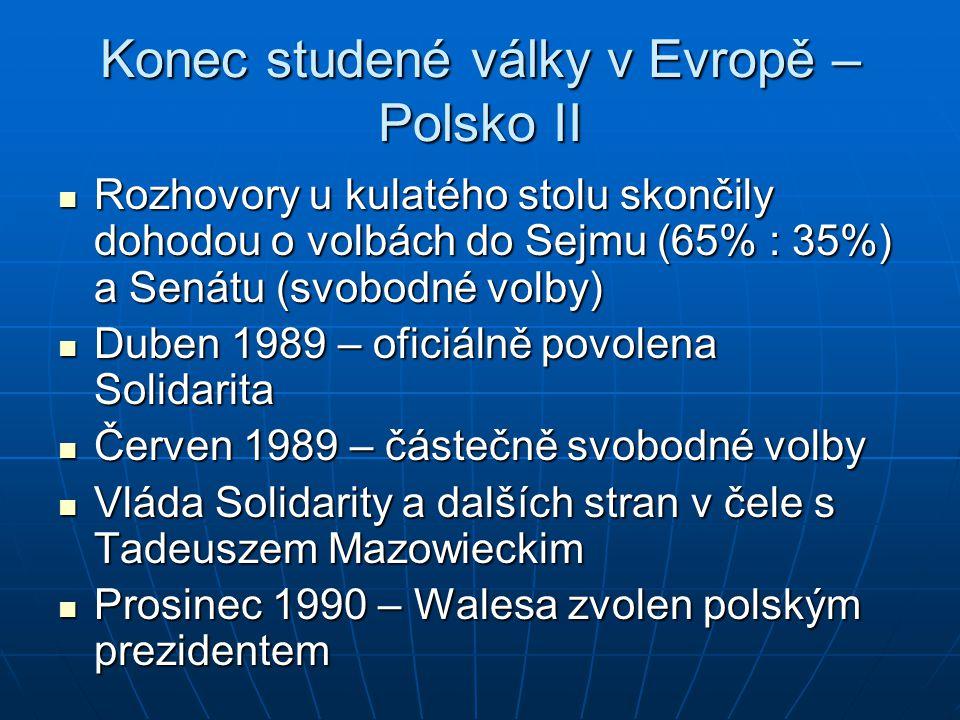 Konec studené války v Evropě – Polsko II