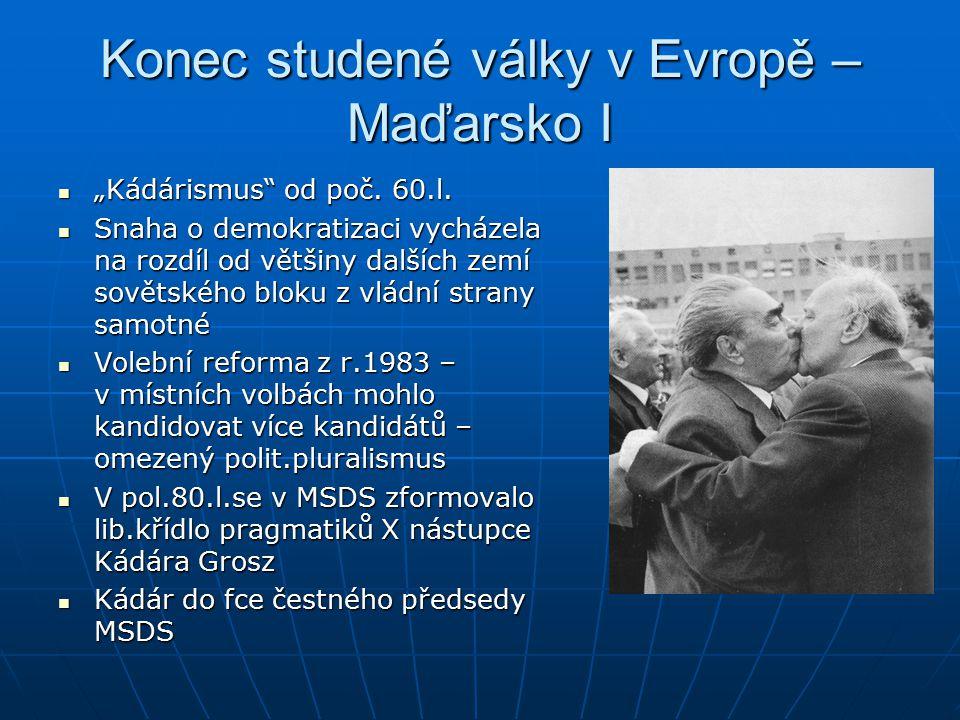 Konec studené války v Evropě – Maďarsko I