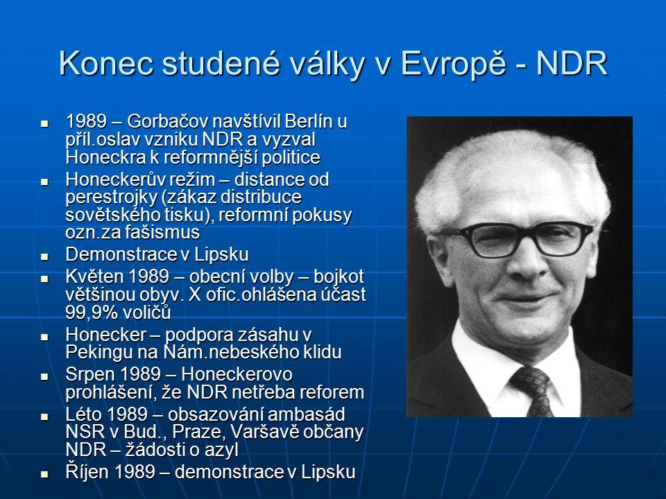 Konec studené války v Evropě - NDR