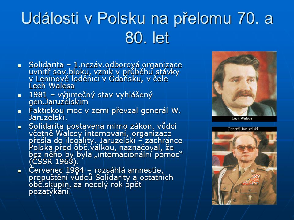 Události v Polsku na přelomu 70. a 80. let