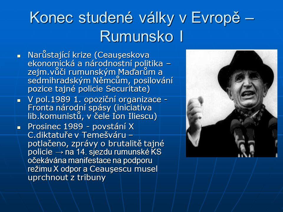 Konec studené války v Evropě – Rumunsko I