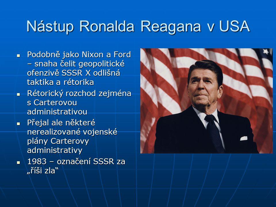Nástup Ronalda Reagana v USA