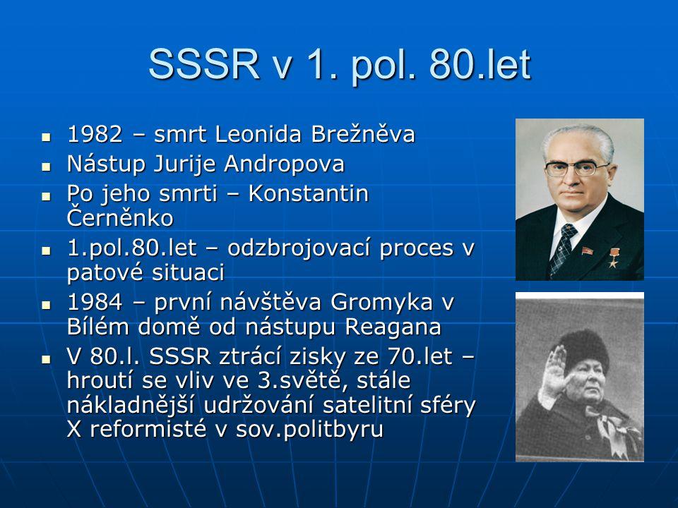 SSSR v 1. pol. 80.let 1982 – smrt Leonida Brežněva