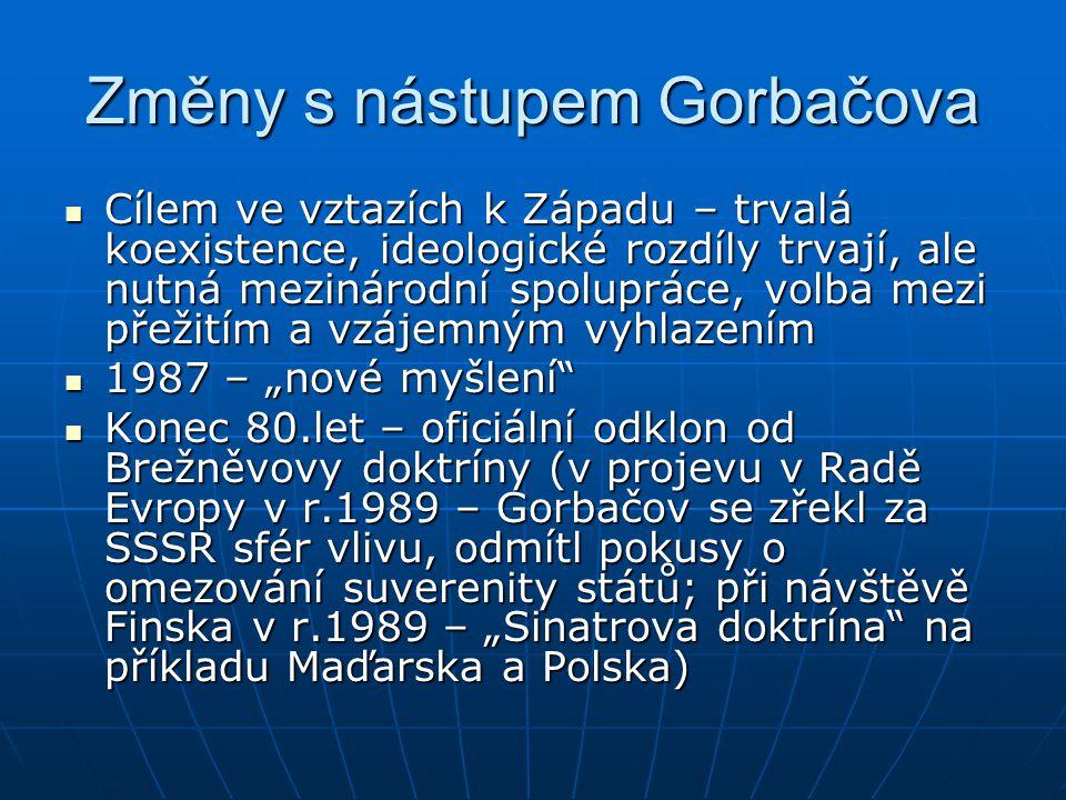 Změny s nástupem Gorbačova