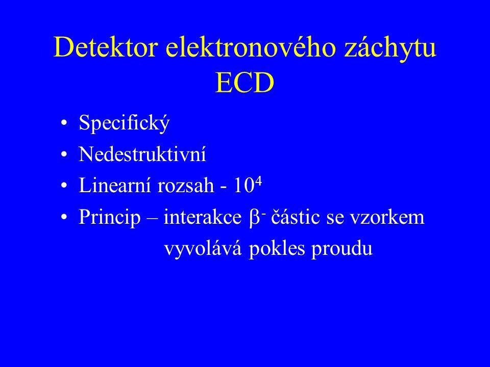 Detektor elektronového záchytu ECD