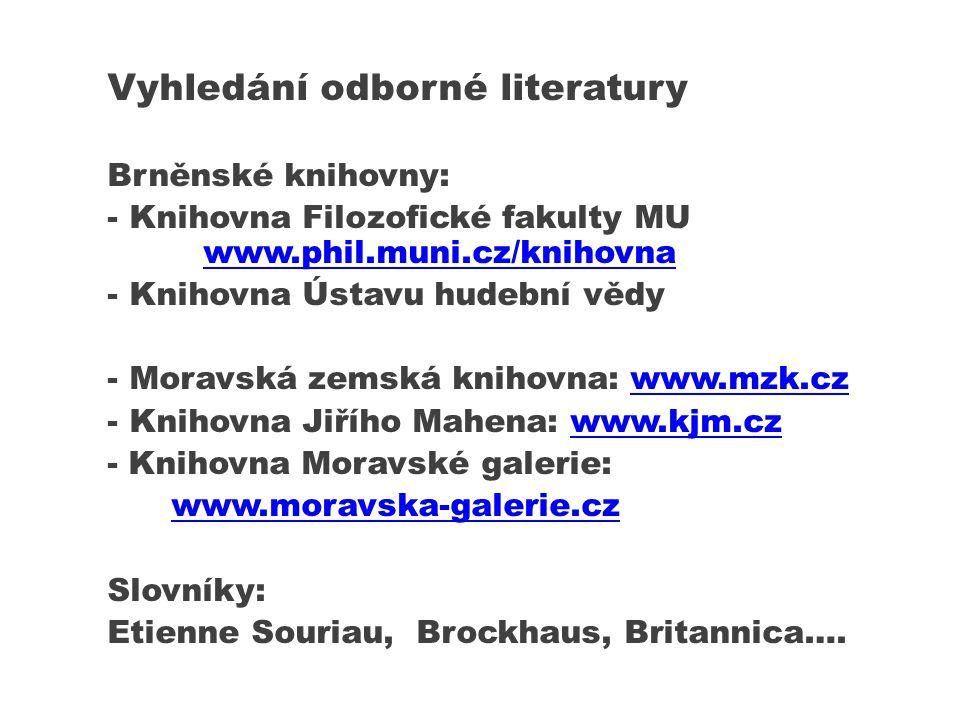 Vyhledání odborné literatury