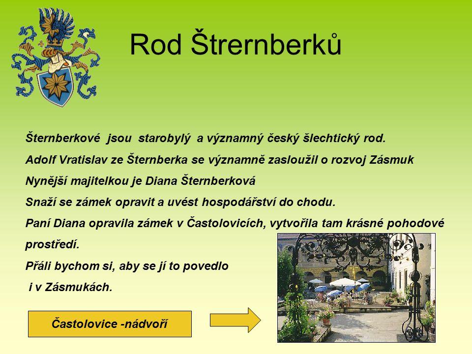 Rod Štrernberků Šternberkové jsou starobylý a významný český šlechtický rod. Adolf Vratislav ze Šternberka se významně zasloužil o rozvoj Zásmuk.