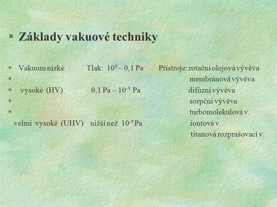 Základy vakuové techniky