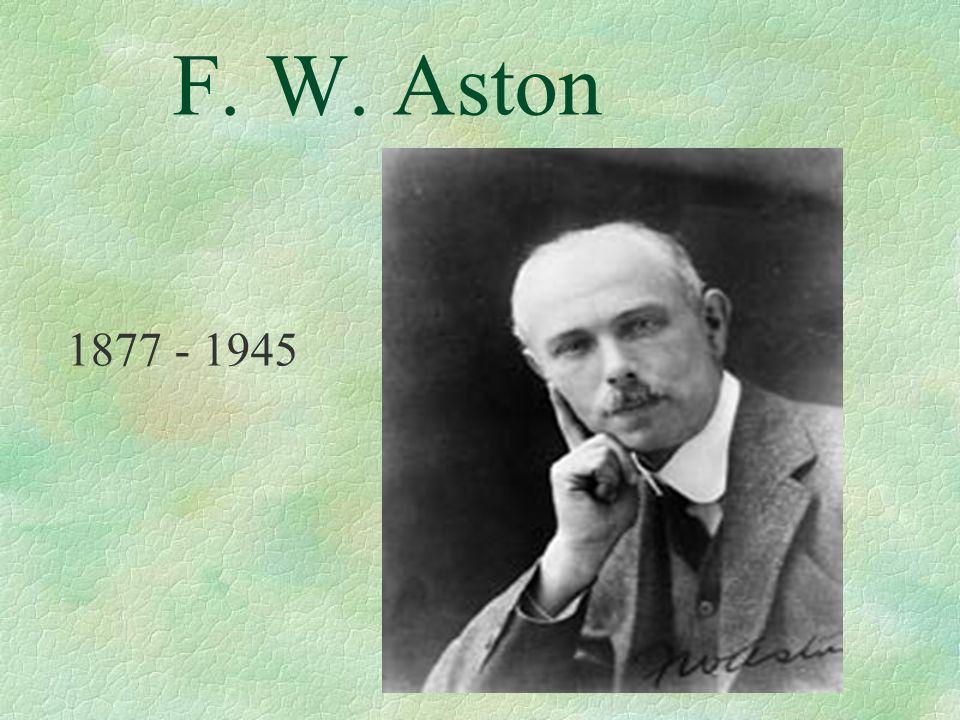 F. W. Aston 1877 - 1945