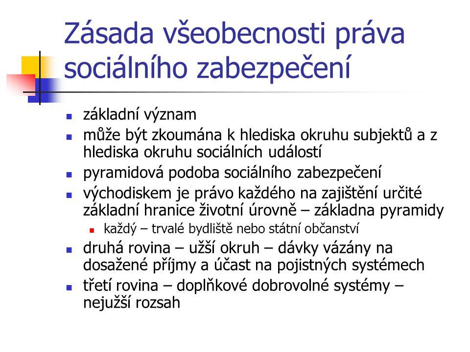 Zásada všeobecnosti práva sociálního zabezpečení