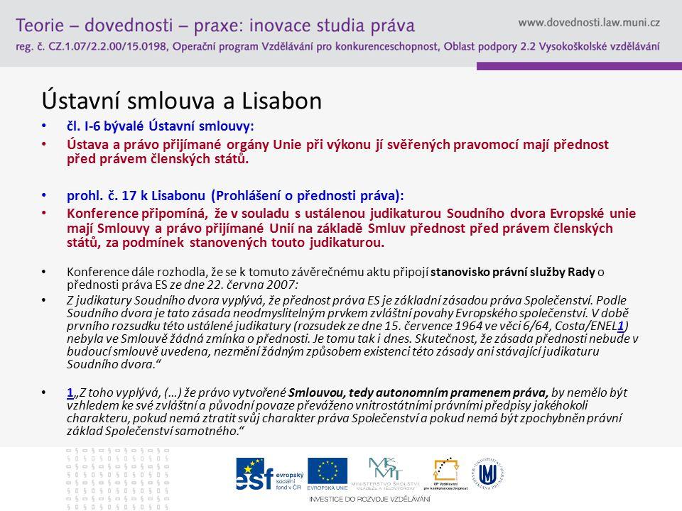 Ústavní smlouva a Lisabon