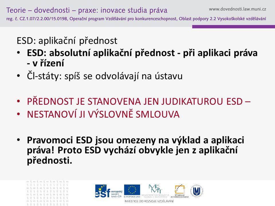 ESD: aplikační přednost