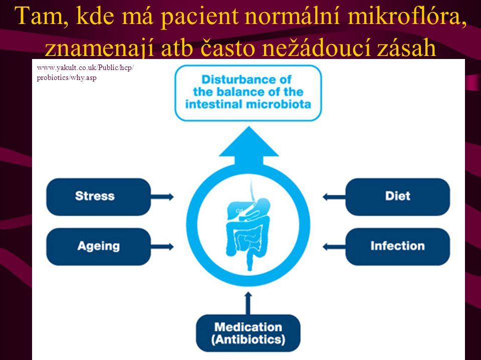 Tam, kde má pacient normální mikroflóra, znamenají atb často nežádoucí zásah