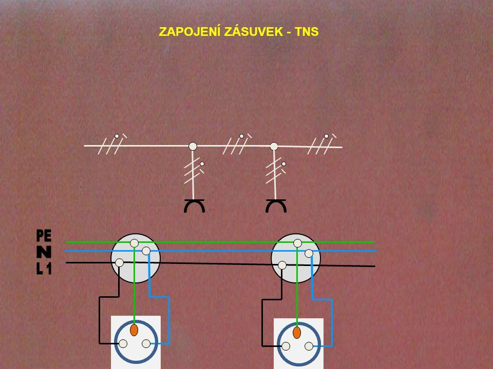 ZAPOJENÍ ZÁSUVEK - TNS PE N L 1
