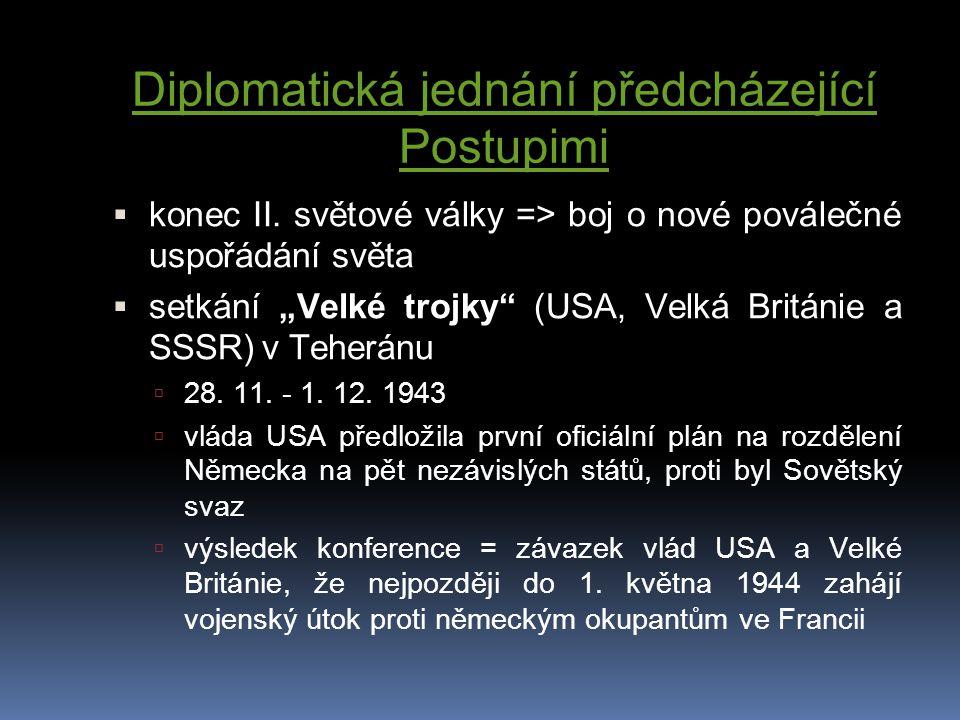 Diplomatická jednání předcházející Postupimi