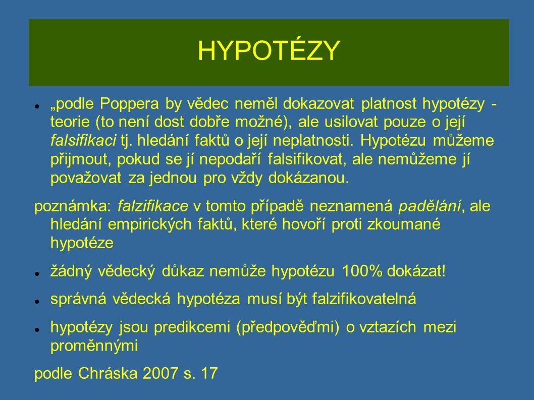 HYPOTÉZY