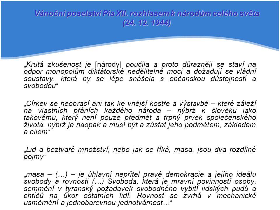 Vánoční poselství Pia XII. rozhlasem k národům celého světa (24. 12