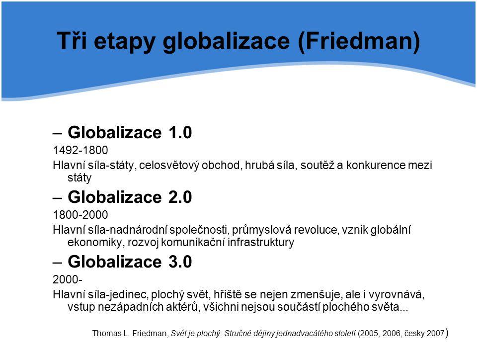Tři etapy globalizace (Friedman)