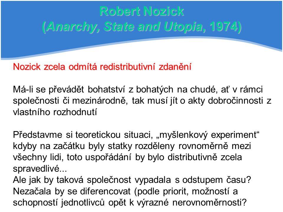 Robert Nozick (Anarchy, State and Utopia, 1974)