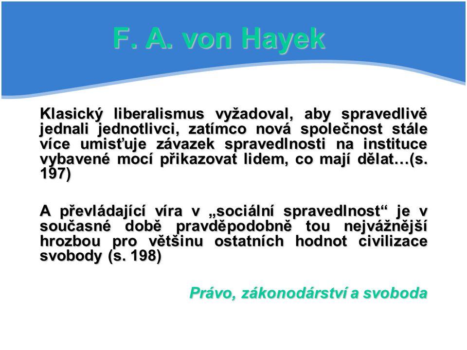 F. A. von Hayek
