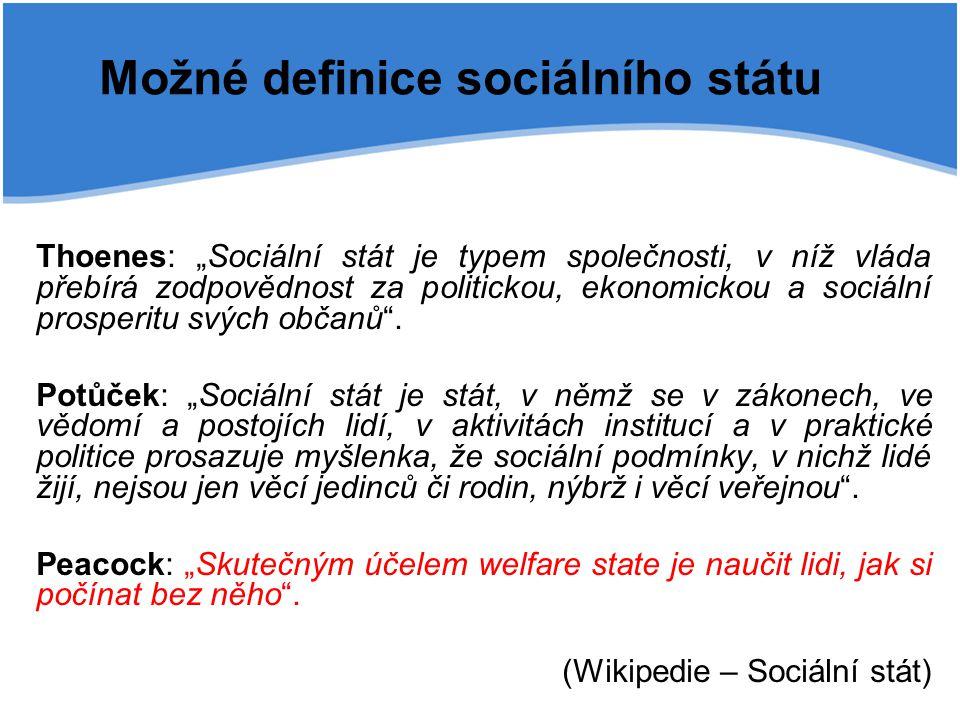 Možné definice sociálního státu