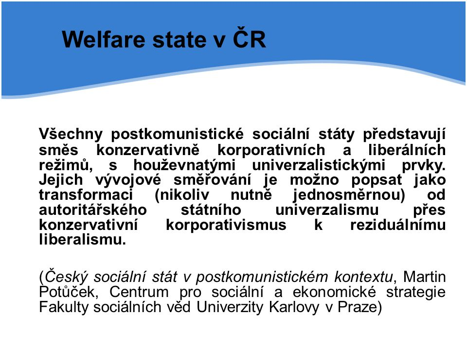 Welfare state v ČR