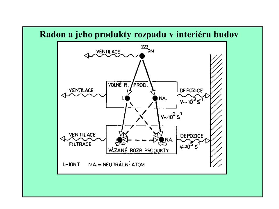 Radon a jeho produkty rozpadu v interiéru budov