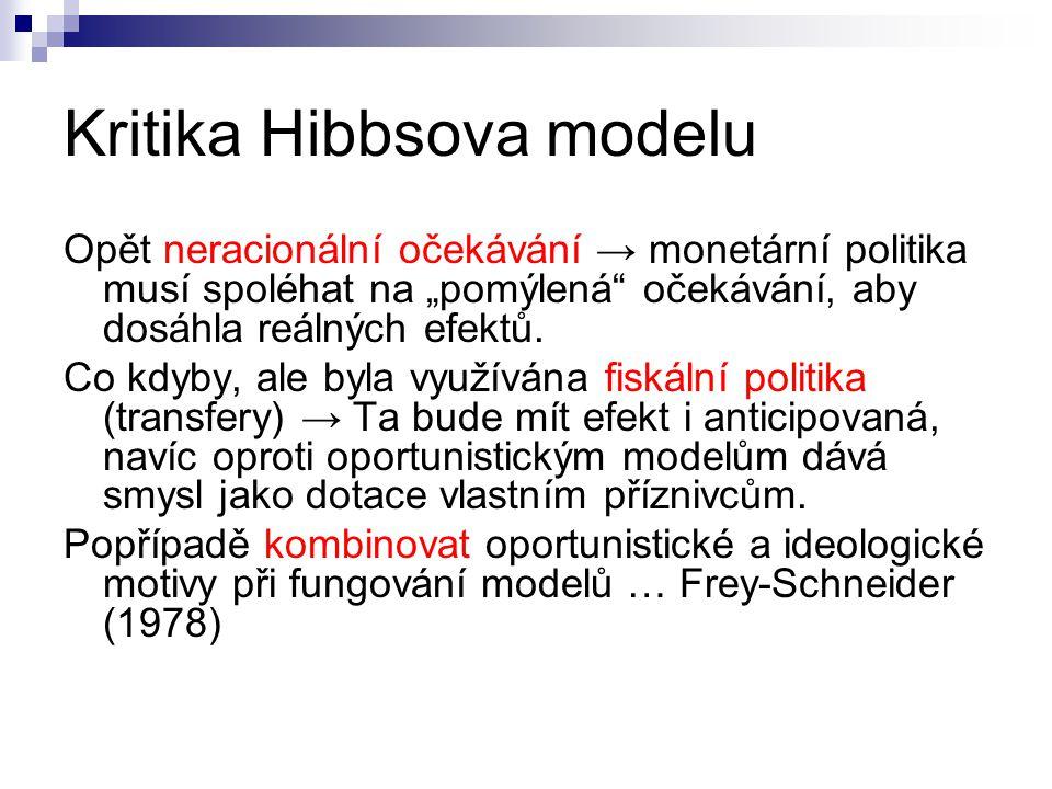 Kritika Hibbsova modelu